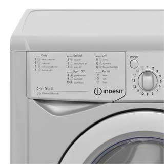 Indesit Eco Time IWDC6125S Washer Dryer - Silver - IWDC6125S_SI - 3