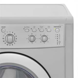 Indesit Eco Time IWDC6125S Washer Dryer - Silver - IWDC6125S_SI - 4