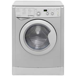 Indesit Eco Time IWDD7143S Washer Dryer - Silver - IWDD7143S_SI - 1