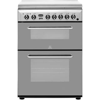 Indesit KDP60SES Dual Fuel Cooker - Stainless Steel - KDP60SES_SS - 1