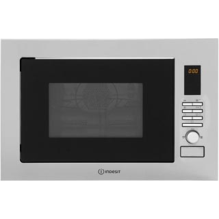 Indesit MWI222.2X Built In Microwave - Stainless Steel - MWI222.2X_SS - 1