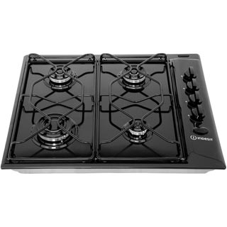 Indesit Aria PAA642/IWH Built In Gas Hob - White - PAA642/IWH_WH - 4