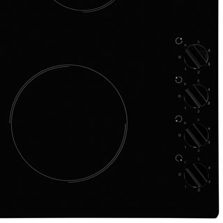 Indesit RI860C Built In Ceramic Hob - Black - RI860C_BK - 2