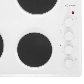 Indesit TI60W Built In Solid Plate Hob - White - TI60W_WH - 2