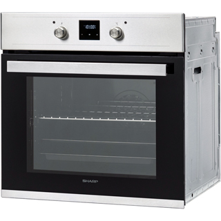 Sharp K-60D19BM1-EU Built In Electric Single Oven - Black - K-60D19BM1-EU_BK - 2