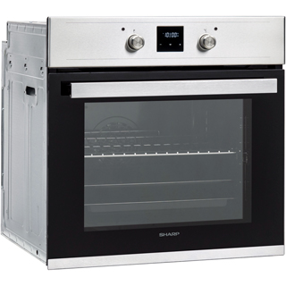 Sharp K-60D19BM1-EU Built In Electric Single Oven - Black - K-60D19BM1-EU_BK - 3