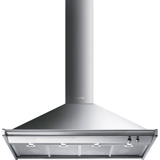 Smeg Opera KD120HXE Built In Chimney Cooker Hood - Stainless Steel - KD120HXE_SS - 1