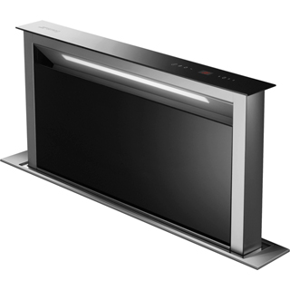 Smeg KDD90VXNE Built In Integrated Cooker Hood - Stainless Steel / Black Glass - KDD90VXNE_SSB - 1