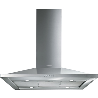 Smeg KI90CE Built In Island Cooker Hood - Stainless Steel - KI90CE_SS - 1