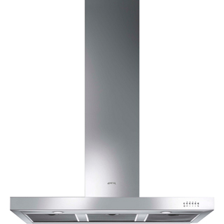 Smeg Symphony KS110XE Built In Chimney Cooker Hood - Stainless Steel - KS110XE_SS - 1
