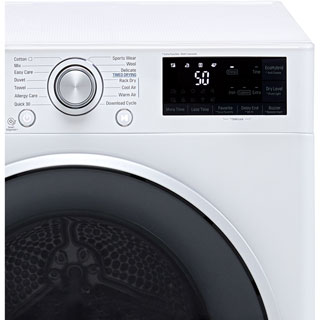 LG J6 FDJ608W Wifi Connected 8Kg Heat Pump Tumble Dryer - White - A+++ Rated - FDJ608W_WH - 3