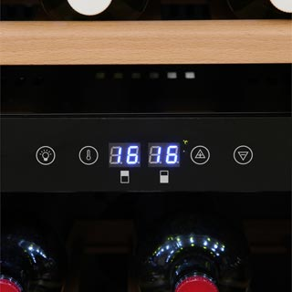 Newworld 600BLKWC Built In Wine Cooler - Black - 600BLKWC_BK - 2
