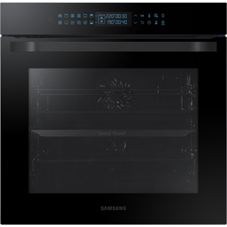 Samsung Prezio Dual Cook NV75R7546RB Built In Electric Single Oven - Black Glass - NV75R7546RB_BKG - 1