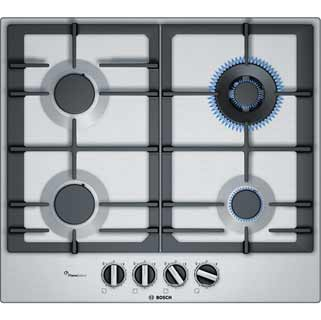 Bosch Serie 6 PCH6A5B90 Built In Gas Hob - Stainless Steel - PCH6A5B90_SS - 1