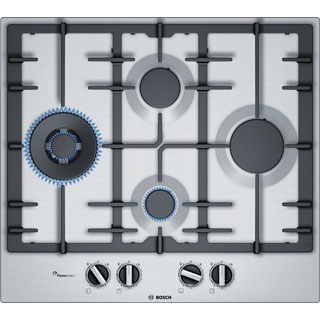 Bosch Serie 6 PCI6A5B90 Built In Gas Hob - Stainless Steel - PCI6A5B90_SS - 1