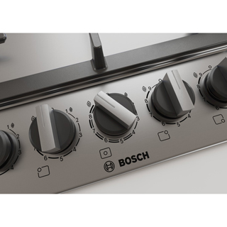 Bosch Serie 6 PCR9A5B90 Built In Gas Hob - Stainless Steel - PCR9A5B90_SS - 3
