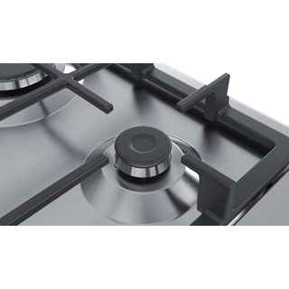 Bosch Serie 4 PGP6B5B90 Built In Gas Hob - Stainless Steel - PGP6B5B90_SS - 4