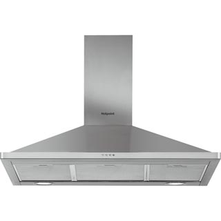 Hotpoint PHPN9.5FLMX Built In Chimney Cooker Hood - Stainless Steel - PHPN9.5FLMX_SS - 1