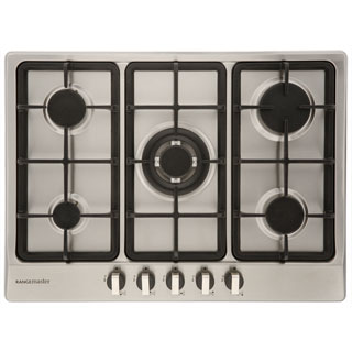 Rangemaster RMB70HPNGFSS Built In Gas Hob - Stainless Steel - RMB70HPNGFSS_SS - 1