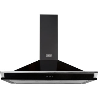 Stoves S1100 RICH CHIM RAIL Built In Chimney Cooker Hood - Black - S1100 RICH CHIM RAIL_BK - 1