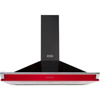 Stoves S1100 RICH CHIM RAIL Built In Chimney Cooker Hood - Hot Jalapeno - S1100 RICH CHIM RAIL_HJA - 1