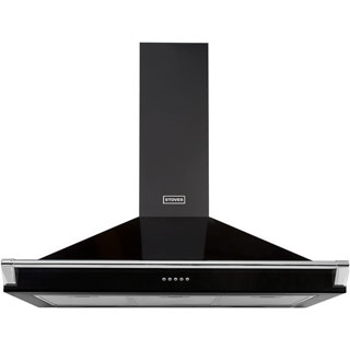 Stoves S900 RICH CHIM RAIL Built In Chimney Cooker Hood - Black - S900 RICH CHIM RAIL_BK - 1