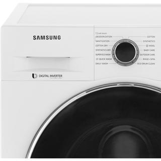 Samsung ecobubble™ WD80J5A10AW Washer Dryer - White - WD80J5A10AW_WH - 4