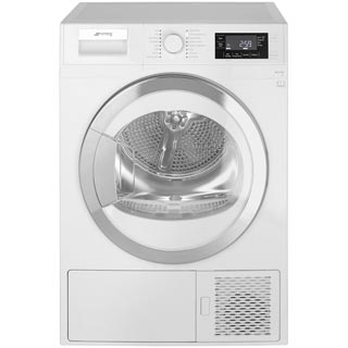 Smeg DRF81AUK 8Kg Heat Pump Tumble Dryer - White - A+ Rated - DRF81AUK_WH - 1