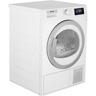 Smeg DRF81AUK 8Kg Heat Pump Tumble Dryer - White - A+ Rated - DRF81AUK_WH - 2