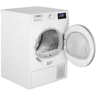 Smeg DRF81AUK 8Kg Heat Pump Tumble Dryer - White - A+ Rated - DRF81AUK_WH - 3