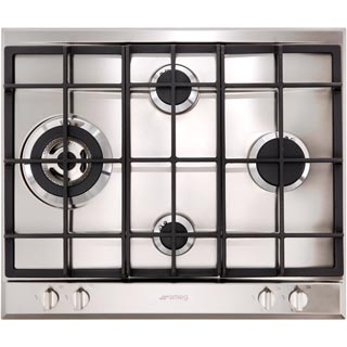 Smeg Cucina P261XGH Built In Gas Hob - Stainless Steel - P261XGH_SS - 1
