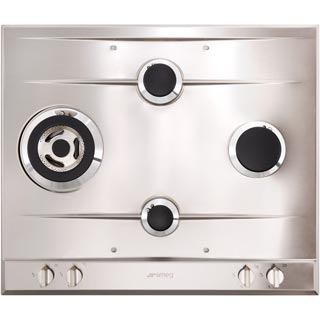 Smeg Cucina P261XGH Built In Gas Hob - Stainless Steel - P261XGH_SS - 3