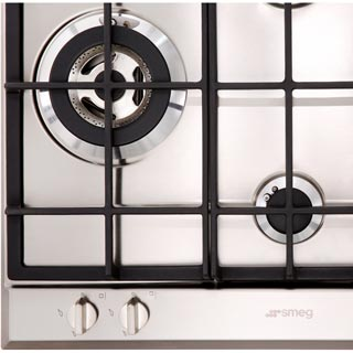 Smeg Cucina P261XGH Built In Gas Hob - Stainless Steel - P261XGH_SS - 4