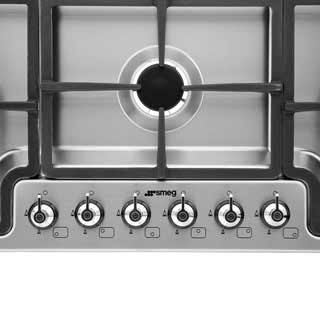 Smeg Classic PGF96 Built In Gas Hob - Stainless Steel - PGF96_SS - 4