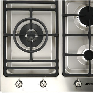 Smeg Classic PS906-5 Built In Gas Hob - Stainless Steel - PS906-5_SS - 4
