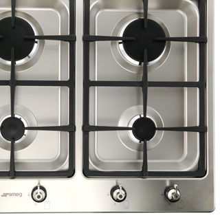 Smeg Classic PS906-5 Built In Gas Hob - Stainless Steel - PS906-5_SS - 5