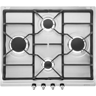 Smeg SE60SGH3 Built In Gas Hob - Stainless Steel - SE60SGH3_SS - 1