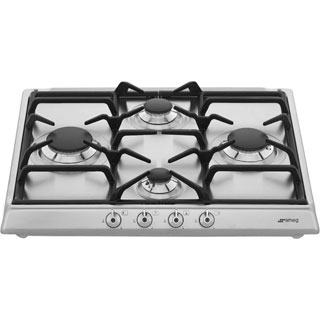 Smeg SE60SGH3 Built In Gas Hob - Stainless Steel - SE60SGH3_SS - 5