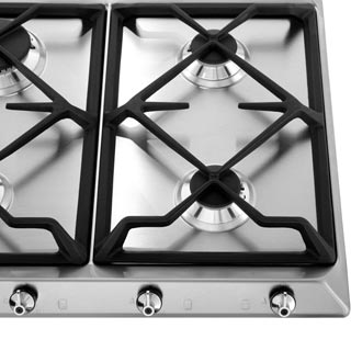 Smeg Classic SE97GXBE5 Built In Gas Hob - Stainless Steel - SE97GXBE5_SS - 4