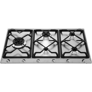 Smeg Classic SE97GXBE5 Built In Gas Hob - Stainless Steel - SE97GXBE5_SS - 5