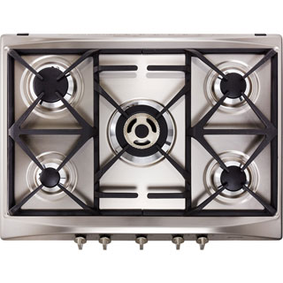 Smeg Cucina SR275XGH2 Built In Gas Hob - Stainless Steel - SR275XGH2_SS - 1