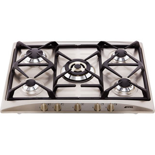 Smeg Cucina SR275XGH2 Built In Gas Hob - Stainless Steel - SR275XGH2_SS - 5