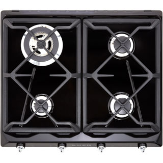Smeg Victoria SR964NGH Built In Gas Hob - Black - SR964NGH_BK - 1