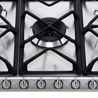 Smeg Victoria SR975NGH Built In Gas Hob - Black - SR975NGH_BK - 3