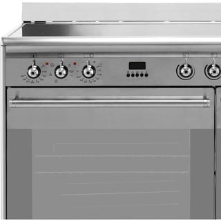 Smeg Concert SUK92CBL9 Electric Range Cooker - Black - SUK92CBL9_BK - 2