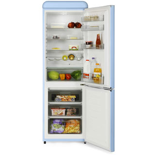 Swan Retro SR11020RN Fridge Freezer - Red - SR11020RN_RD - 3
