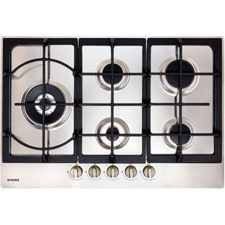 Stoves GHU75C Built In Gas Hob - Stainless Steel - GHU75C_SS - 1