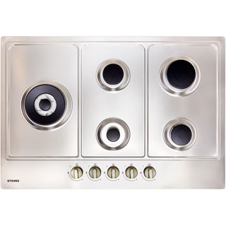 Stoves GHU75C Built In Gas Hob - Stainless Steel - GHU75C_SS - 3