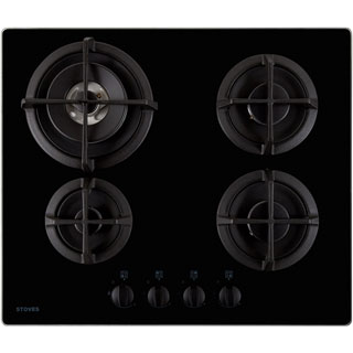 Stoves ST GTG60C Built In Gas Hob - Black - ST GTG60C_BK - 1