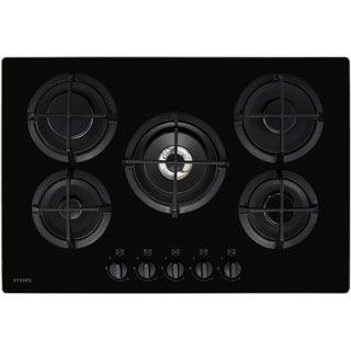 Belling GTG75C Built In Gas Hob - Black - GTG75C_BK - 1